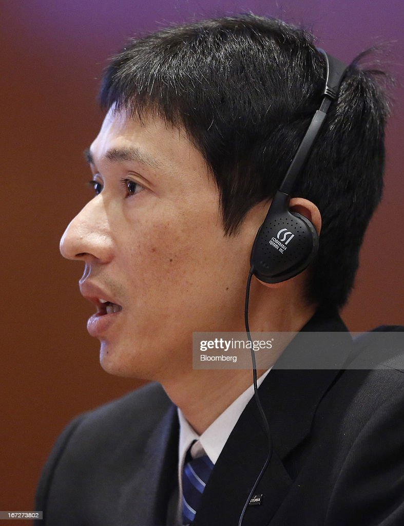 Takahiro Shizuki, manager of large-scale lithium-ion battery technical department for GS Yuasa Corp., testifies during a hearing at the National Transportation Safety Board (NTSB) in Washington, D.C., U.S., on Tuesday, April 23, 2013. Boeing Co. has begun repairs on the 787 Dreamliner to fix a battery fault that grounded the fleet for three months as it enters talks with airlines to resume deliveries and meet a full-year production target. Photographer: Jonathan Ernst/Bloomberg via Getty Images