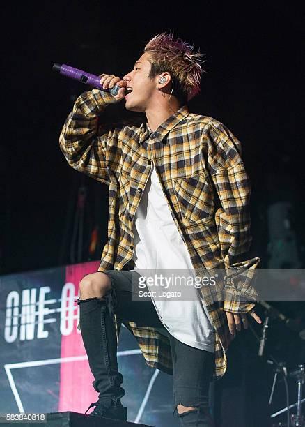 Takahiro 'Taka' Moriuchi of One OK Rock performs at The Palace of Auburn Hills on July 27 2016 in Auburn Hills Michigan