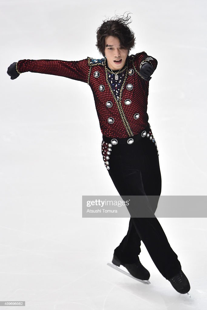 <a gi-track='captionPersonalityLinkClicked' href=/galleries/search?phrase=Takahito+Mura&family=editorial&specificpeople=5621586 ng-click='$event.stopPropagation()'>Takahito Mura</a> of Japan competes in the Men Short Program during day one of ISU Grand Prix of Figure Skating 2014/2015 NHK Trophy at the Namihaya Dome on November 28, 2014 in Osaka, Japan.