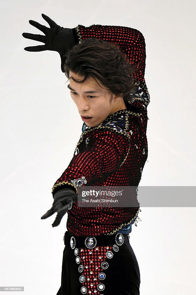 <a gi-track='captionPersonalityLinkClicked' href=/galleries/search?phrase=Takahito+Mura&family=editorial&specificpeople=5621586 ng-click='$event.stopPropagation()'>Takahito Mura</a> of Japan competes in the Men's Short Program on day three of the 2015 ISU World Figure Skating Championships at Shanghai Oriental Sports Center on March 27, 2015 in Shanghai, China.