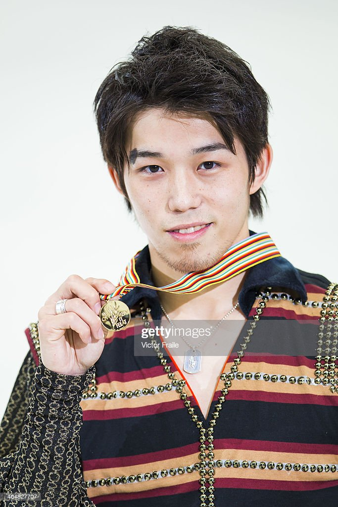 <a gi-track='captionPersonalityLinkClicked' href=/galleries/search?phrase=Takahito+Mura&family=editorial&specificpeople=5621586 ng-click='$event.stopPropagation()'>Takahito Mura</a> of Japan poses with his medal after winning the Men Free Skating event during the Four Continents Figure Skating Championships on January 24, 2014 in Taipei, Taiwan.