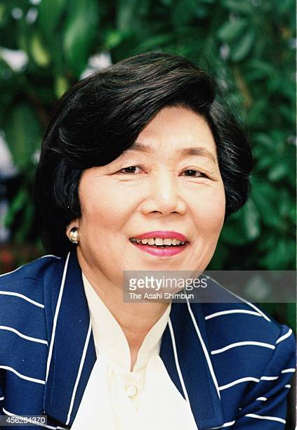 Takako Doi former head of the Japan Socialist Party is photographed in 1992 in Tokyo Japan Trailblazing politician Takako Doi who served as the...