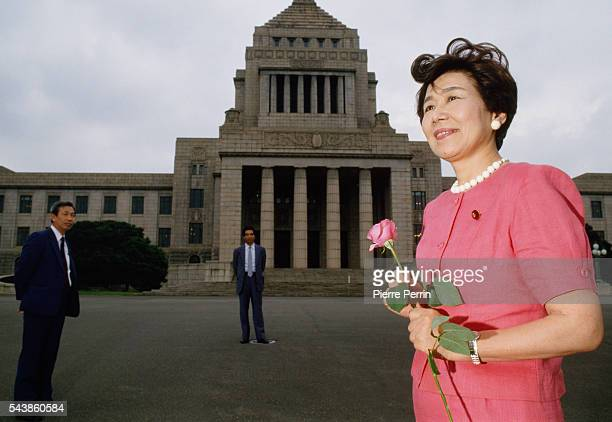 Takako Doi leader of the Social Democratic Party of Japan