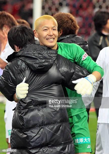 Takanori Sugeno of Kashiwa Reysol celebrates the season champion after the JLeague match between Urawa Red Diamonds and Kashiwa Reysol at Saitama...