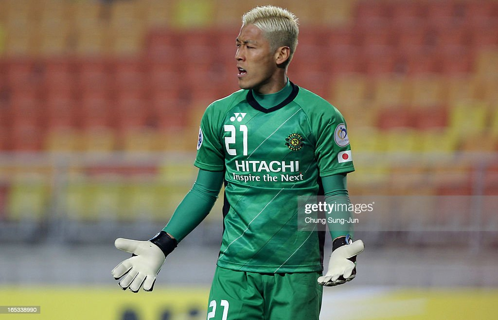 <a gi-track='captionPersonalityLinkClicked' href=/galleries/search?phrase=Takanori+Sugeno&family=editorial&specificpeople=5650990 ng-click='$event.stopPropagation()'>Takanori Sugeno</a> of Kashiwa Reysol reacts during the AFC Champions League Group H match between Suwon Bluewings and Kashiwa Reysol at Suwon World Cup Stadium on April 3, 2013 in Suwon, South Korea.