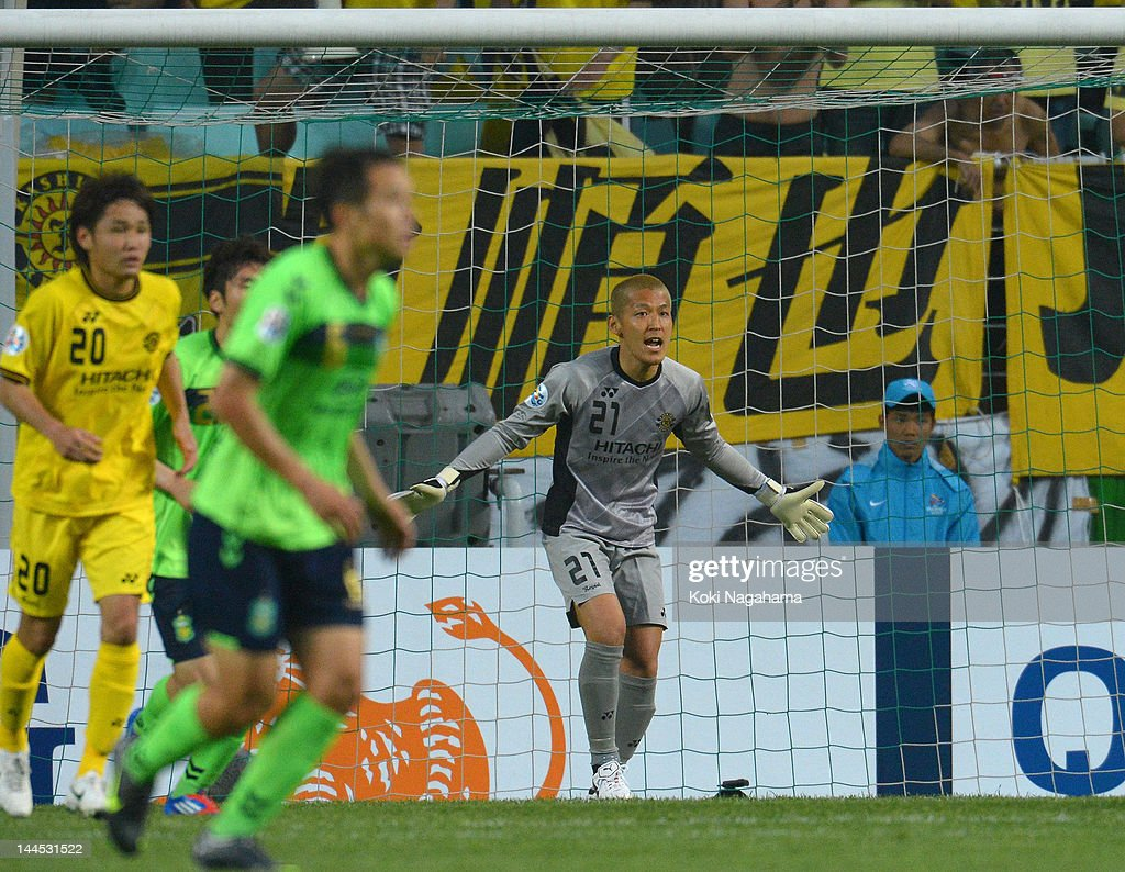 <a gi-track='captionPersonalityLinkClicked' href=/galleries/search?phrase=Takanori+Sugeno&family=editorial&specificpeople=5650990 ng-click='$event.stopPropagation()'>Takanori Sugeno</a> of Kshiwa reacts during the AFC Champions League Group H match between Jeonbuk Hyundai Motors and Kashiwa Reysol at Jeonju World Cup Stadium on May 15, 2012 in Jeonju, South Korea.