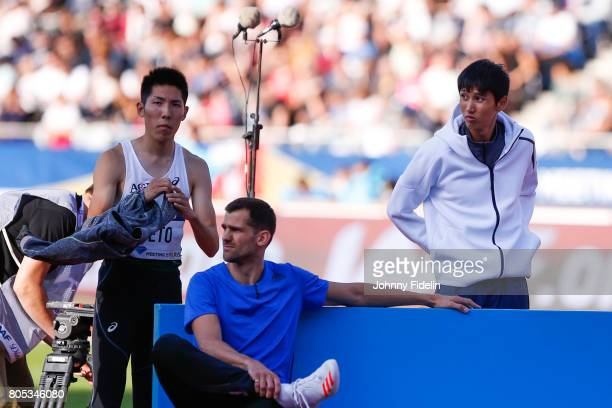 Takashi Eto and Naoto Tobe of Japan High Jump during the Meeting de Paris of the IAAF Diamond League 2017 on July 1 2017 in Paris France