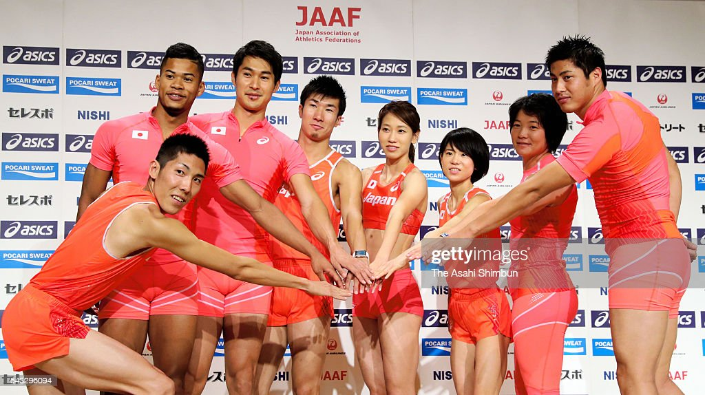 Takashi Eto,Julian Walsh, <a gi-track='captionPersonalityLinkClicked' href=/galleries/search?phrase=Shota+Iizuka&family=editorial&specificpeople=9558893 ng-click='$event.stopPropagation()'>Shota Iizuka</a>, <a gi-track='captionPersonalityLinkClicked' href=/galleries/search?phrase=Yoshihide+Kiryu&family=editorial&specificpeople=10879804 ng-click='$event.stopPropagation()'>Yoshihide Kiryu</a>, <a gi-track='captionPersonalityLinkClicked' href=/galleries/search?phrase=Chisato+Fukushima&family=editorial&specificpeople=2254354 ng-click='$event.stopPropagation()'>Chisato Fukushima</a>, <a gi-track='captionPersonalityLinkClicked' href=/galleries/search?phrase=Ayuko+Suzuki&family=editorial&specificpeople=14728701 ng-click='$event.stopPropagation()'>Ayuko Suzuki</a>, <a gi-track='captionPersonalityLinkClicked' href=/galleries/search?phrase=Yuki+Ebihara&family=editorial&specificpeople=4068225 ng-click='$event.stopPropagation()'>Yuki Ebihara</a> and <a gi-track='captionPersonalityLinkClicked' href=/galleries/search?phrase=Ryohei+Arai+-+Track+and+Field+Athlete&family=editorial&specificpeople=14903599 ng-click='$event.stopPropagation()'>Ryohei Arai</a> pose for photographs during the Track and Field Japan Team for Rio de Janeiro Olympic Games press conference on June 27, 2016 in Tokyo, Japan.