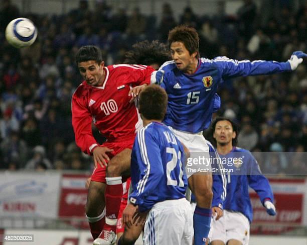 Takashi Fukunishi of Japan in action during the international friendly match between Japan and Syria at Saitama Stadium on February 2 2005 in Saitama...