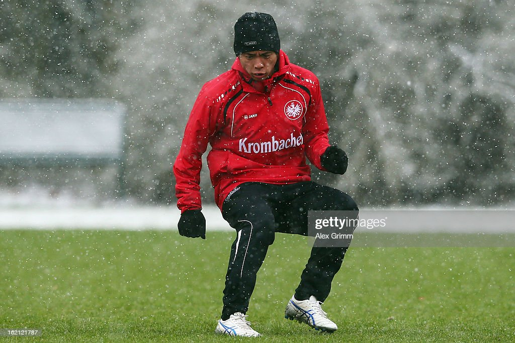 Takashi Inui execises during a Eintracht Frankfurt training session at Commerzbank-Arena on February 19, 2013 in Frankfurt am Main, Germany.