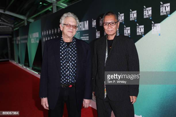 Takashi Miike and Jeremy Thomas attend the Thrill Gala UK Premiere of 'Blade Of The Immortal' during the 61st BFI London Film Festival on October 8...