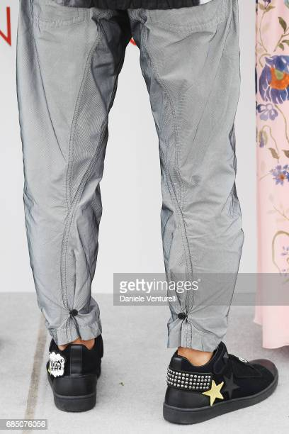 Takashi Miike attends the 'Blade Of The Immortal ' photocall during the 70th annual Cannes Film Festival at Palais des Festivals on May 18 2017 in...