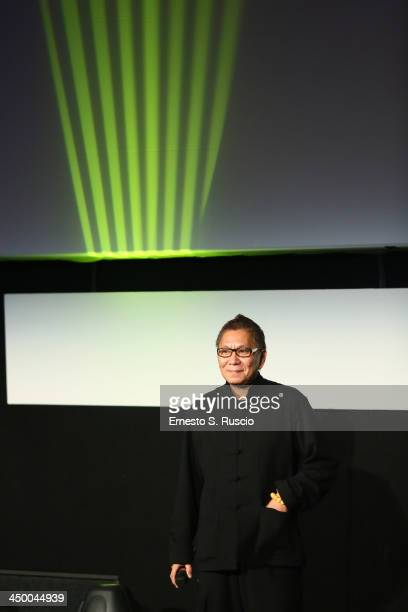 Takashi Miike meets the audience during the 8th Rome Film Festival at the Auditorium Parco Della Musica on November 16 2013 in Rome Italy