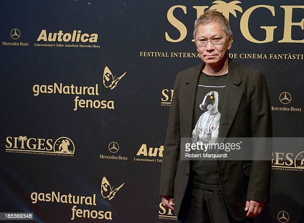 Takashi Miike poses on the red carpet at the 46th Sitges Film Festival on October 19 2013 in Sitges Spain