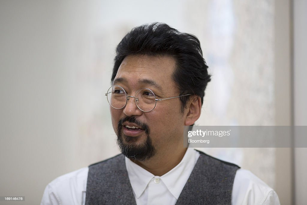 <a gi-track='captionPersonalityLinkClicked' href=/galleries/search?phrase=Takashi+Murakami&family=editorial&specificpeople=588180 ng-click='$event.stopPropagation()'>Takashi Murakami</a>, a Japanese contemporary artist, speaks during an interview at the Galerie Perrotin in Hong Kong, China, on Monday, May 20, 2013. The exhibition '<a gi-track='captionPersonalityLinkClicked' href=/galleries/search?phrase=Takashi+Murakami&family=editorial&specificpeople=588180 ng-click='$event.stopPropagation()'>Takashi Murakami</a>' will be on show until July 6. Photographer: Jerome Favre/Bloomberg via Getty Images