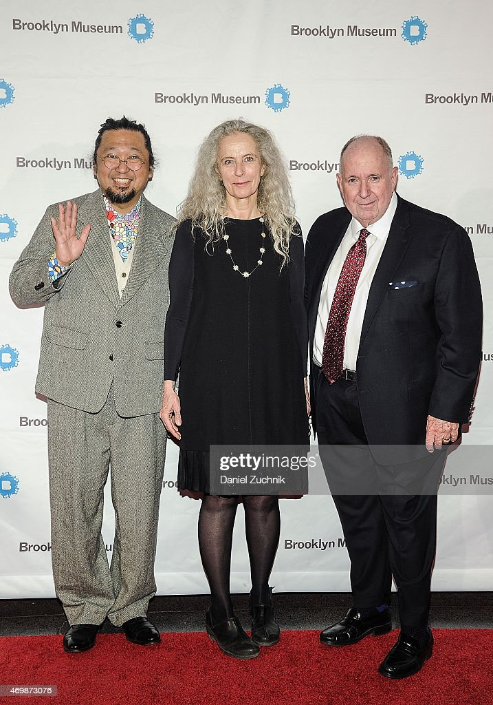 Takashi Murakami Kiki Smith and Arnold Lehman attend the 5th Annual Brooklyn Artists Ball at Brooklyn Museum on April 15 2015 in New York City