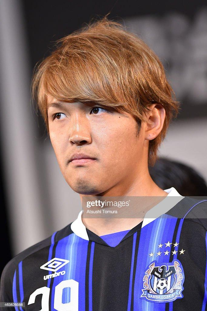 Takashi Usami of Gamba Osaka attends the 2015 J League Press Conference at Grand Prince Hotel Shin Takanawa on February 19 2015 in Tokyo Japan