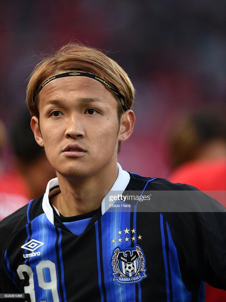 Takashi Usami of Gamba Osaka looks on after the 95th Emperor's Cup final between Urawa Red Diamonds and Gamba Osaka at Ajinomoto Stadium on January 1...