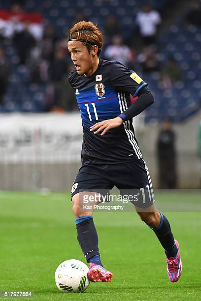 Takashi Usami of Japan in action during the FIFA World Cup Russia Asian Qualifier second round match between Japan and Syria at the Saitama Stadium...