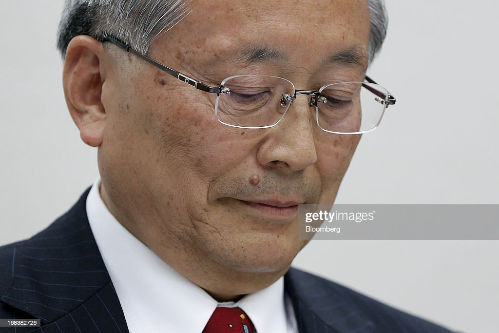 <a gi-track='captionPersonalityLinkClicked' href=/galleries/search?phrase=Takashi+Yamanouchi&family=editorial&specificpeople=5292471 ng-click='$event.stopPropagation()'>Takashi Yamanouchi</a>, incoming chairman of Mazda Motor Corp., pauses during a news conference in Tokyo, Japan, on Thursday, May 9, 2013. Mazda, Japan's most export-dependent carmaker, said <a gi-track='captionPersonalityLinkClicked' href=/galleries/search?phrase=Takashi+Yamanouchi&family=editorial&specificpeople=5292471 ng-click='$event.stopPropagation()'>Takashi Yamanouchi</a> will step down as president next month to make way for younger managers after the company returned to profitability. Photographer: Kiyoshi Ota/Bloomberg via Getty Images
