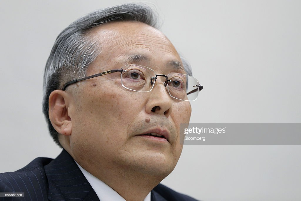 <a gi-track='captionPersonalityLinkClicked' href=/galleries/search?phrase=Takashi+Yamanouchi&family=editorial&specificpeople=5292471 ng-click='$event.stopPropagation()'>Takashi Yamanouchi</a>, incoming chairman of Mazda Motor Corp., speaks during a news conference in Tokyo, Japan, on Thursday, May 9, 2013. Mazda, Japan's most export-dependent carmaker, said <a gi-track='captionPersonalityLinkClicked' href=/galleries/search?phrase=Takashi+Yamanouchi&family=editorial&specificpeople=5292471 ng-click='$event.stopPropagation()'>Takashi Yamanouchi</a> will step down as president next month to make way for younger managers after the company returned to profitability. Photographer: Kiyoshi Ota/Bloomberg via Getty Images