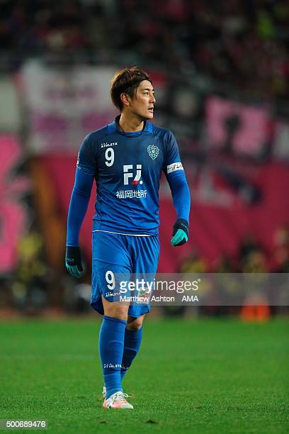 Takayuki Nakahara of Avispa Fukuoka during the J2 Promotion Play Off Final between Avispa Fukuoka and Cerezo Osaka at Yanmar Stadium on December 6...