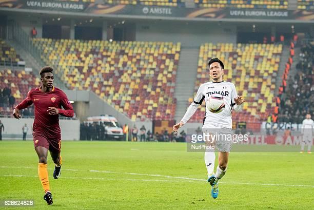 Takayuki Seto of FC Astra Giurgiu during the UEFA Europa League 20162017 Group E game between FC Astra Giurgiu and AS Roma at National Arena...