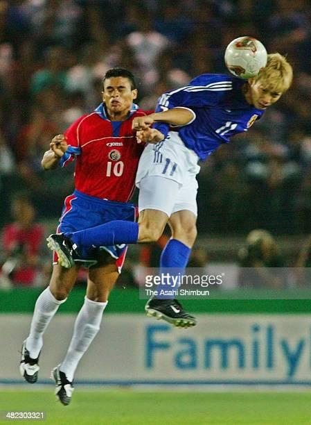Takayuki Suzuki of Japan in action during the international friendly match between Japan and Costa Rica at International Stadium Yokohama on April 17...