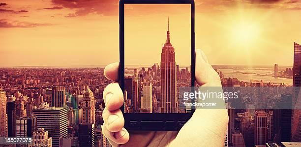 Prenez une photo de l'Empire State Building, à Manhattan, panorama