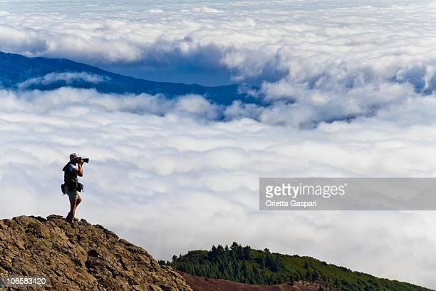 Nehmen Sie ein Bild durch die Wolken, La Palma