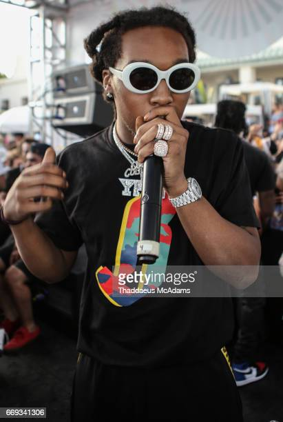 Take Off of the Migos performs at the Revolve Desert house on April 16 2017 in Palm Springs California