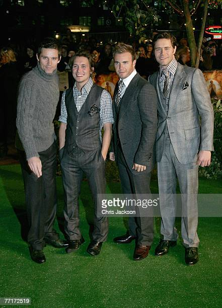 Take That attends the Stardust film premiere held at the Odeon Leicester Square on October 3 2007 in London