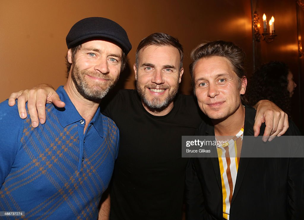 '<a gi-track='captionPersonalityLinkClicked' href=/galleries/search?phrase=Take+That&family=editorial&specificpeople=644688 ng-click='$event.stopPropagation()'>Take That</a>' band members (L-R) <a gi-track='captionPersonalityLinkClicked' href=/galleries/search?phrase=Howard+Donald&family=editorial&specificpeople=641350 ng-click='$event.stopPropagation()'>Howard Donald</a>, <a gi-track='captionPersonalityLinkClicked' href=/galleries/search?phrase=Gary+Barlow&family=editorial&specificpeople=616384 ng-click='$event.stopPropagation()'>Gary Barlow</a> and <a gi-track='captionPersonalityLinkClicked' href=/galleries/search?phrase=Mark+Owen&family=editorial&specificpeople=217494 ng-click='$event.stopPropagation()'>Mark Owen</a> attend the hit musical 'Finding Neverland' (written by <a gi-track='captionPersonalityLinkClicked' href=/galleries/search?phrase=Gary+Barlow&family=editorial&specificpeople=616384 ng-click='$event.stopPropagation()'>Gary Barlow</a>) on Broadway The Lunt-Fontanne Theatre on September 16, 2015 in New York City.