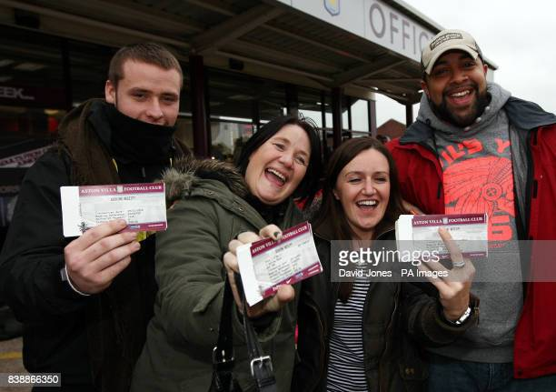 Take That fans James Clougher and Lorraine O'Neil from Kingstanding with Jayne Griffiths and Nathan Ross from Erdington with their tickets for the...