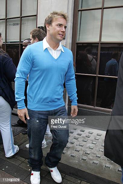 Take That's Gary Barlow during Take That Appearance on BBC Radio 1 October 10 2006 at BBC Studios in London Great Britain