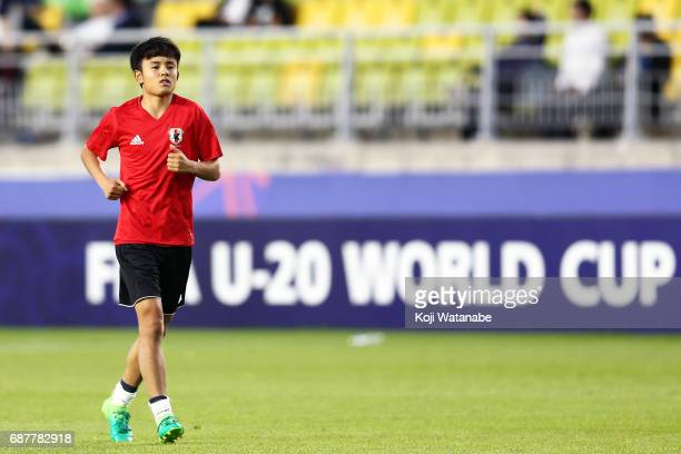 Takefusa Kubo of Japan in action during the FIFA U20 World Cup Korea Republic 2017 group D match between Uruguay and Japan at Suwon World Cup Stadium...