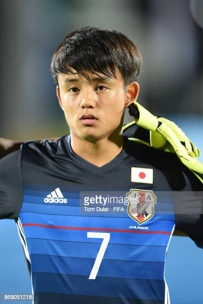 Takefusa Kubo of Japan looks on during the FIFA U17 World Cup India 2017 group E match between Honduras and Japan at Indira Gandhi Athletic Stadium...