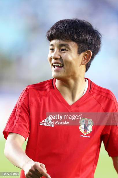 Takefusa Kubo of Japan looks on during the FIFA U20 World Cup Korea Republic 2017 group D match between Uruguay and Japan at Suwon World Cup Stadium...