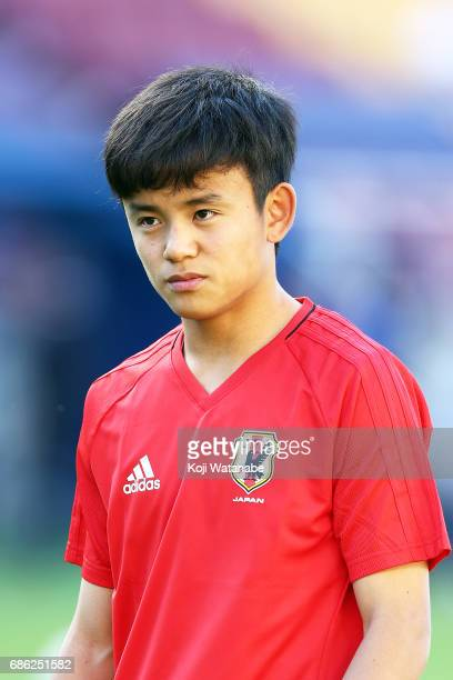 Takefusa Kubo of Japan looks on during the FIFA U20 World Cup SKorea Republic 2017 group D match between South Africa and Japan at Suwon World Cup...