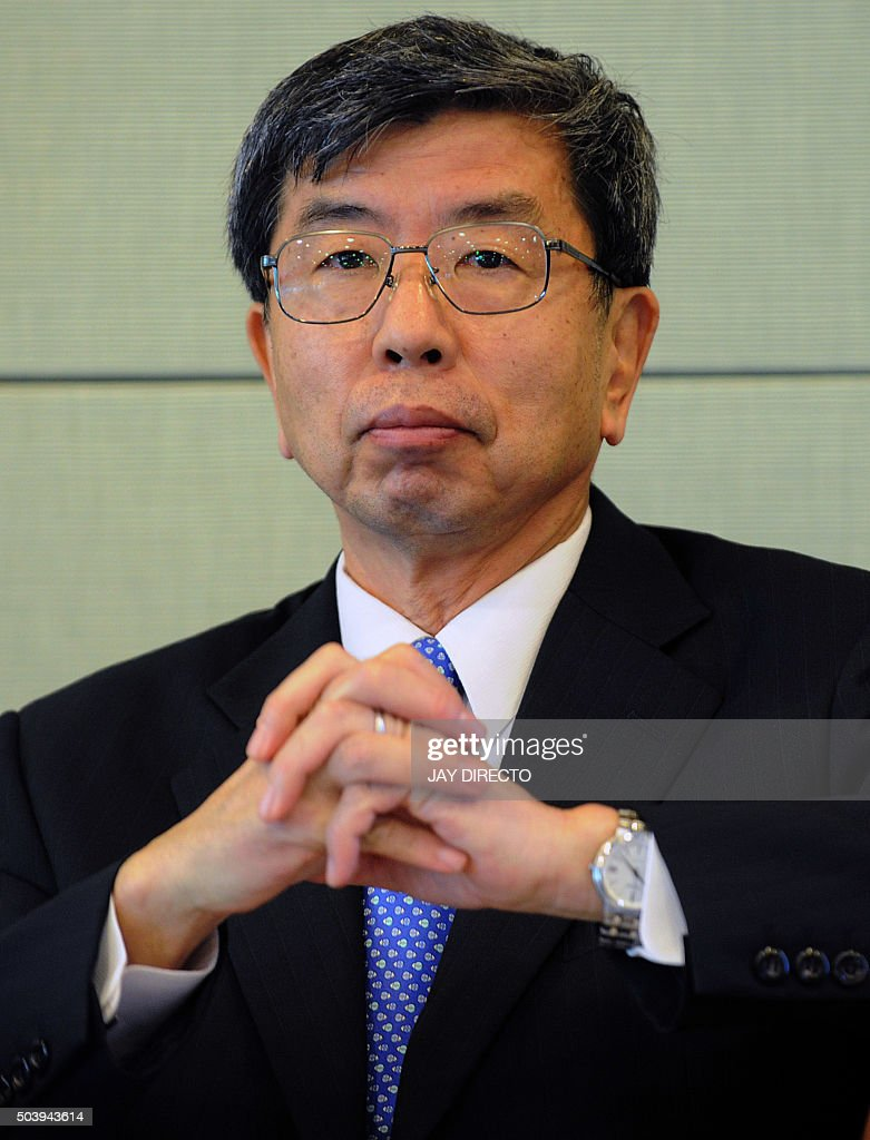 <a gi-track='captionPersonalityLinkClicked' href=/galleries/search?phrase=Takehiko+Nakao&family=editorial&specificpeople=10510436 ng-click='$event.stopPropagation()'>Takehiko Nakao</a>, Asian Development Bank (ADB) president, attends a press briefing at ADB headquarters in Manila on January 8, 2016. The ADB is cooperating closely with the China-backed Asian Infrastructure Investment Bank, and plans to co-finance projects beginning this year, the ADB president said January 8. AFP PHOTO / Jay DIRECTO / AFP / JAY