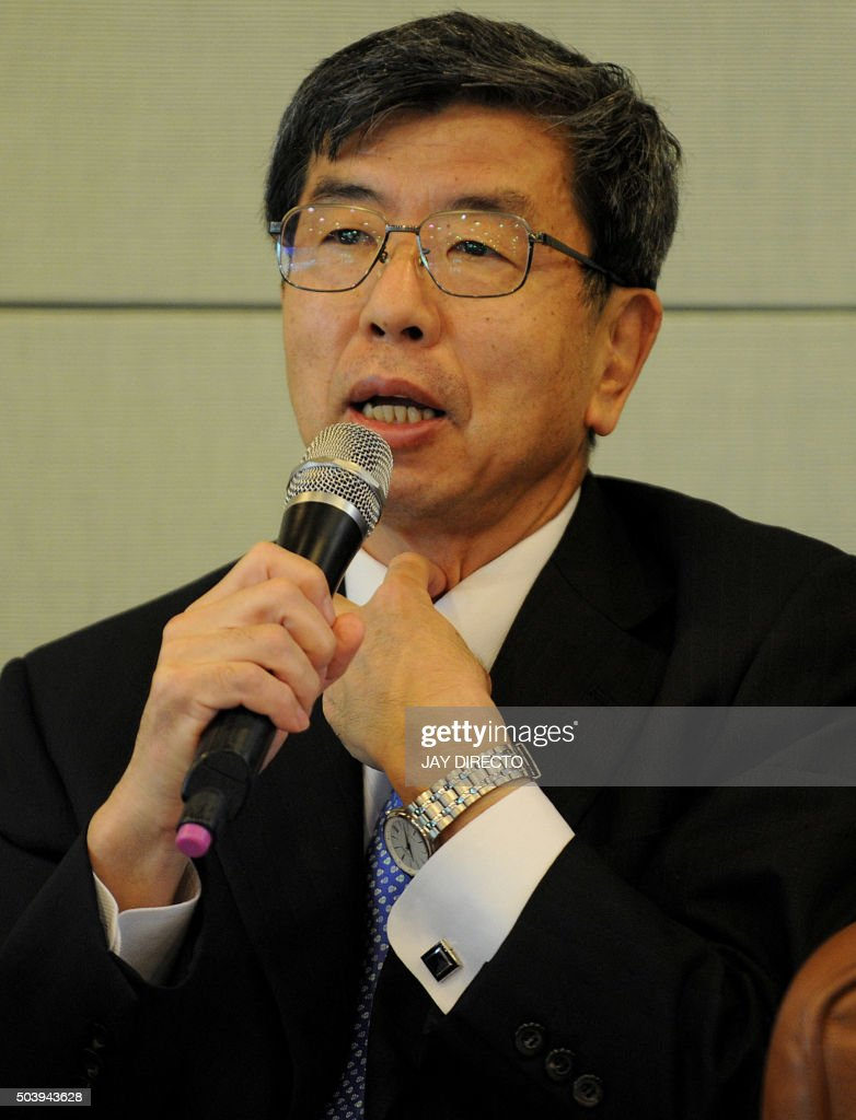 <a gi-track='captionPersonalityLinkClicked' href=/galleries/search?phrase=Takehiko+Nakao&family=editorial&specificpeople=10510436 ng-click='$event.stopPropagation()'>Takehiko Nakao</a>, Asian Development Bank (ADB) president, speaks during a press briefing at ADB headquarters in Manila on January 8, 2016. The ADB is cooperating closely with the China-backed Asian Infrastructure Investment Bank, and plans to co-finance projects beginning this year, the ADB president said January 8. AFP PHOTO / Jay DIRECTO / AFP / JAY