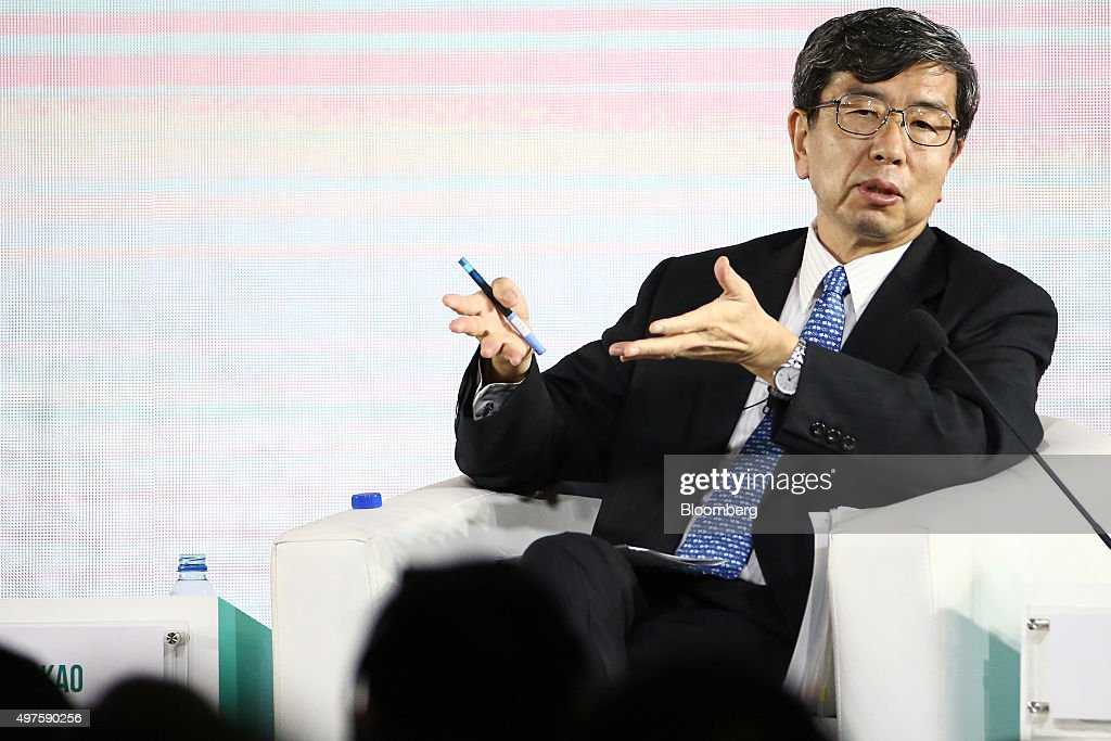 <a gi-track='captionPersonalityLinkClicked' href=/galleries/search?phrase=Takehiko+Nakao&family=editorial&specificpeople=10510436 ng-click='$event.stopPropagation()'>Takehiko Nakao</a>, president of the Asian Development Bank (ADB), speaks at the Asia-Pacific Economic Cooperation (APEC) CEO Summit in Manila, the Philippines, on Tuesday, Nov. 17, 2015. Officials gathered in Manila won't let issues like the disputed South China Sea spoil discussions on economic matters, Asia-Pacific Economic Cooperation Secretariat Executive Director Alan Bollard said. Photographer: SeongJoon Cho/Bloomberg via Getty Images