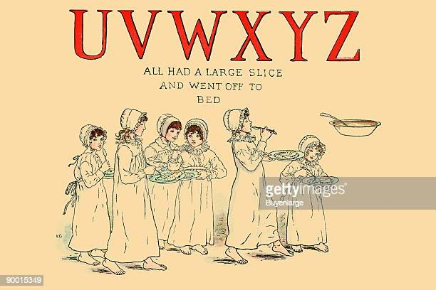 Taken from the book 'A Apple Pie An OldFashioned Alphabet Book' published in London in 1886 this is a page illustrating an old nursery rhyme The...
