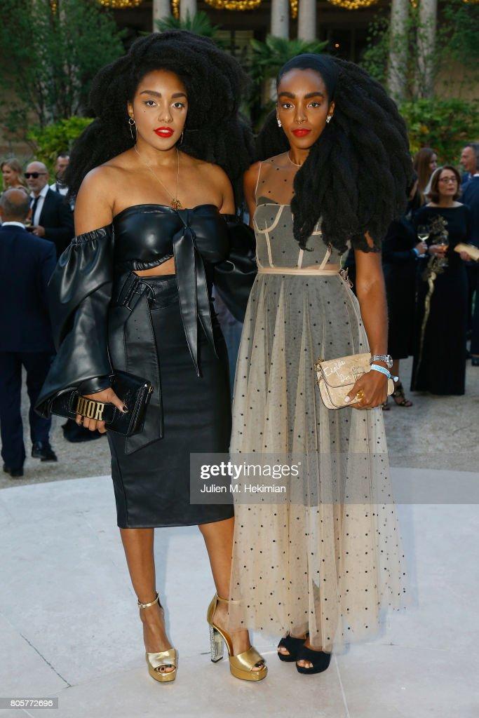 Takenya Quann and Cipriana Quann attend the amfAR Paris Dinner 2017 at Le Petit Palais on July 2, 2017 in Paris, France.