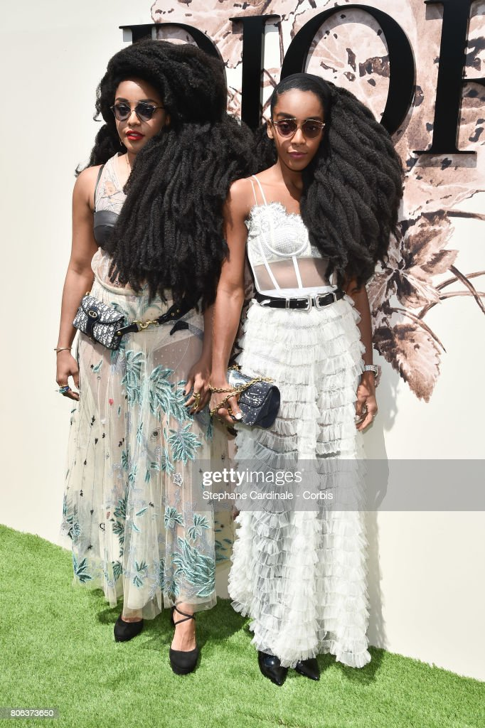 Takenya Quann and Cipriana Quann attend the Christian Dior Haute Couture Fall/Winter 2017-2018 show as part of Haute Couture Paris Fashion Week on July 3, 2017 in Paris, France.