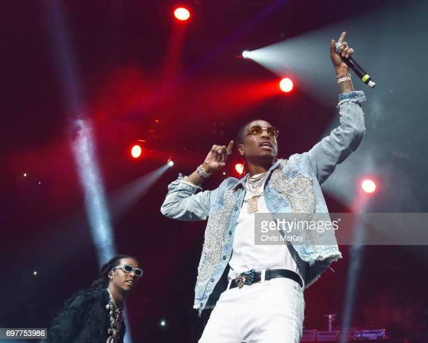 Takeoff and Quavo of Migos perform during the Hot 1079 Birthday Bash at Philips Arena on June 17 2017 in Atlanta Georgia