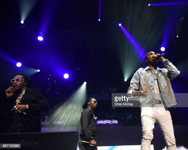 Takeoff Offset and Quavo of Migos perform during the Hot 1079 Birthday Bash at Philips Arena on June 17 2017 in Atlanta Georgia