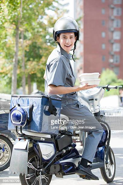 Take-out deliveryman