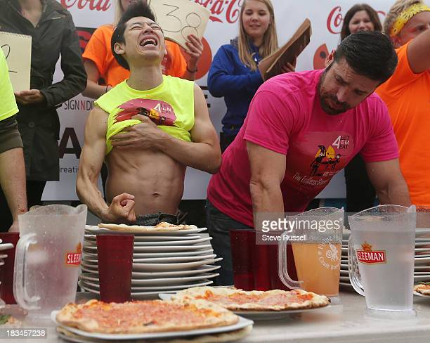 BARRIE ON OCTOBER 6 Takeru Kobayashi defends his pizza eating title at Pie Wood Fired Pizza Joint at in Barrie Kobayashi ate 42 slices of pizza...