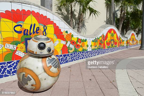 BB8 takes over Calle Ocho on April 5 2016 in Miami Florida